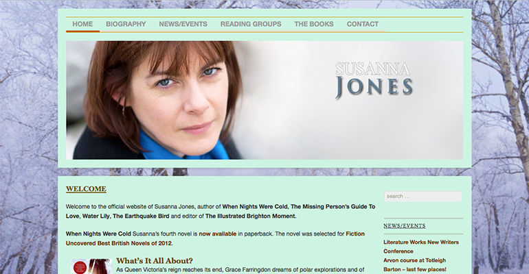 Susanna Jones website